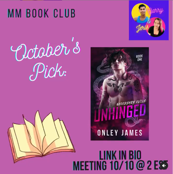 Promo for October MM Book Club Mtng